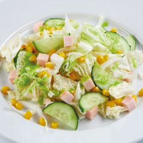 Салат с ветчиной и кукурузой(СРЕДА)