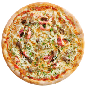 Пицца с вешенками тонкая
