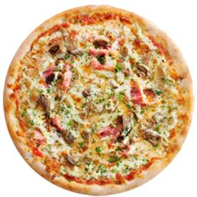Пицца с вешенками с пышным краем