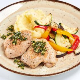 Куриные бедрышки с соусом Гремолата